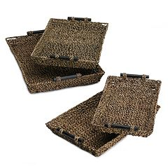Seagrass 4 pc Nesting Tray Set