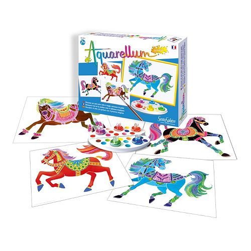 Aquarellum Junior Horses Paint Set by SentoSphere USA
