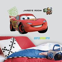 Disney / Pixar Cars 2 Lightning McQueen Peel & Stick Personalized Wall Decal