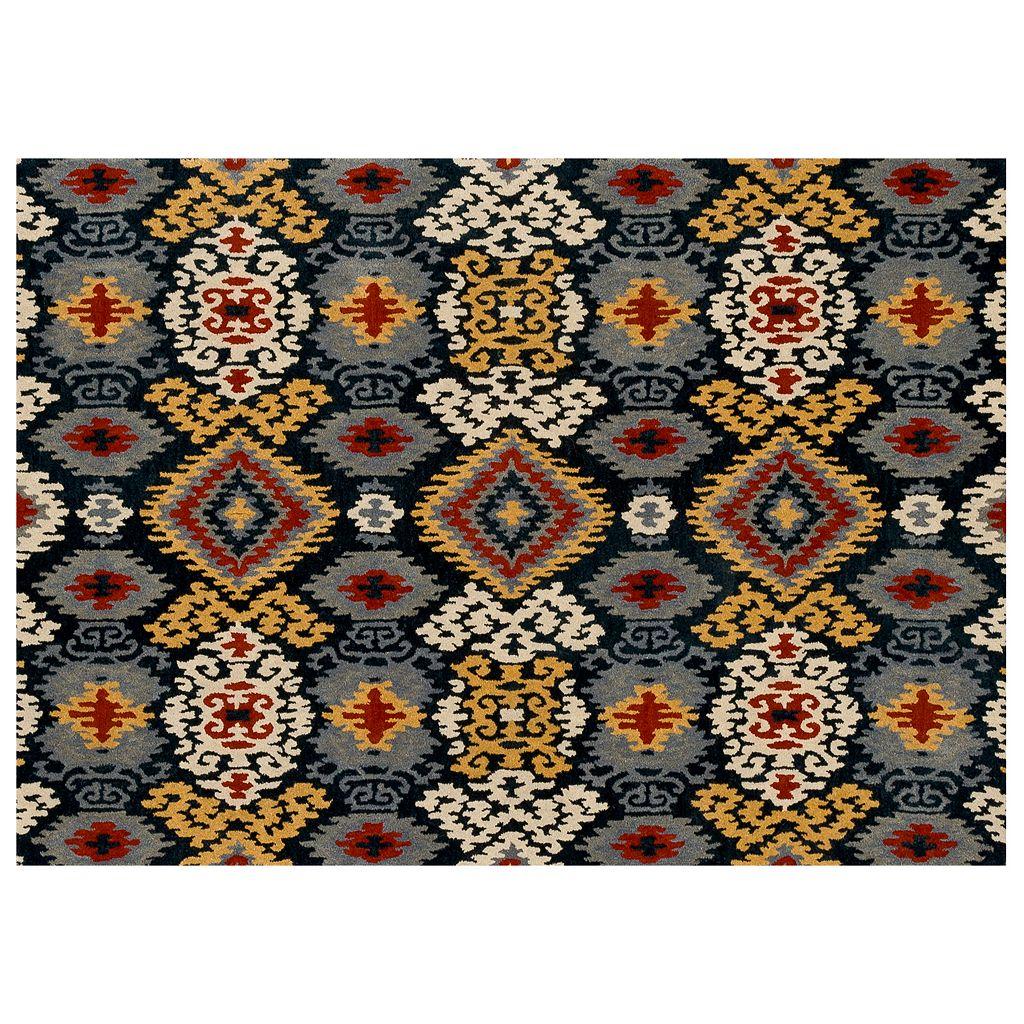 Loloi Leyda Scroll Ikat Wool Rug