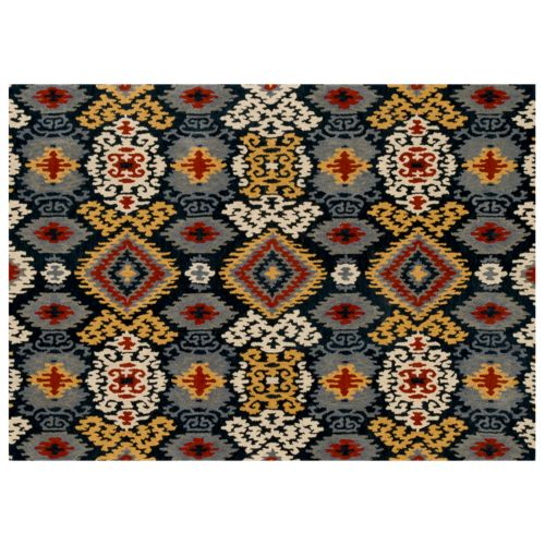 Loloi Leyda Scroll Ikat Wool Rug