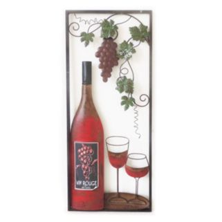 ''Wine With 2 Glasses'' Wall Art