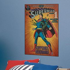 DC Comics Superman Kryptonite Peel & Stick Comic Cover Wall Decal