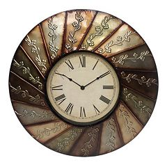 Swirl Flower Wall Clock