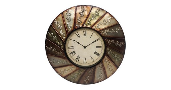 Swirl Flower Wall Clock