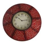 Trellis Paneled Wall Clock