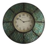 Geometric Paneled Wall Clock