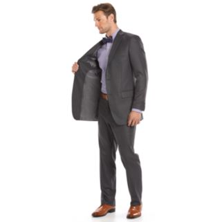 Men's Apt. 9® Slim-Fit Gray Crosshatch Suit Jacket