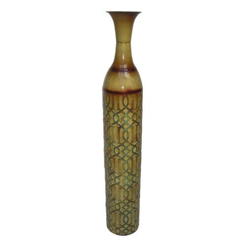 Geometric Metal Trumpet Table Vase
