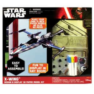 Star Wars: Episode VII The Force Awakens X-Wing Design N Display 3D Paper Model Kit