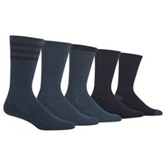 Men's Chaps 5-pack Cushioned Striped Crew Socks