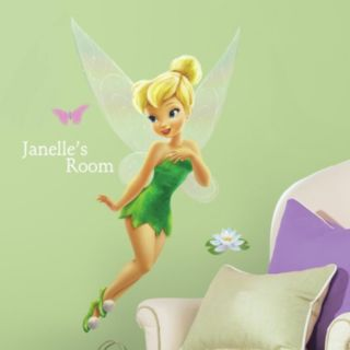 Disney Fairies Tinkerbell Peel & Stick Personalized Wall Decal