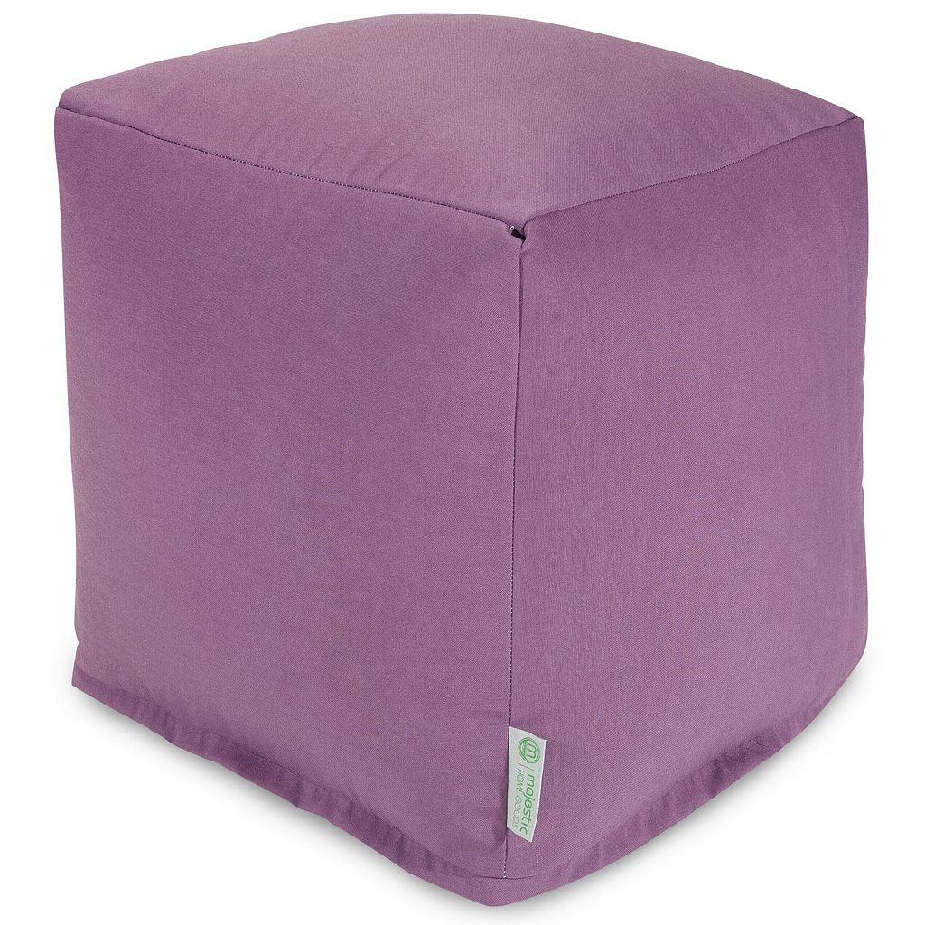 Majestic Home Goods Solid Indoor Outdoor Small Cube Ottoman