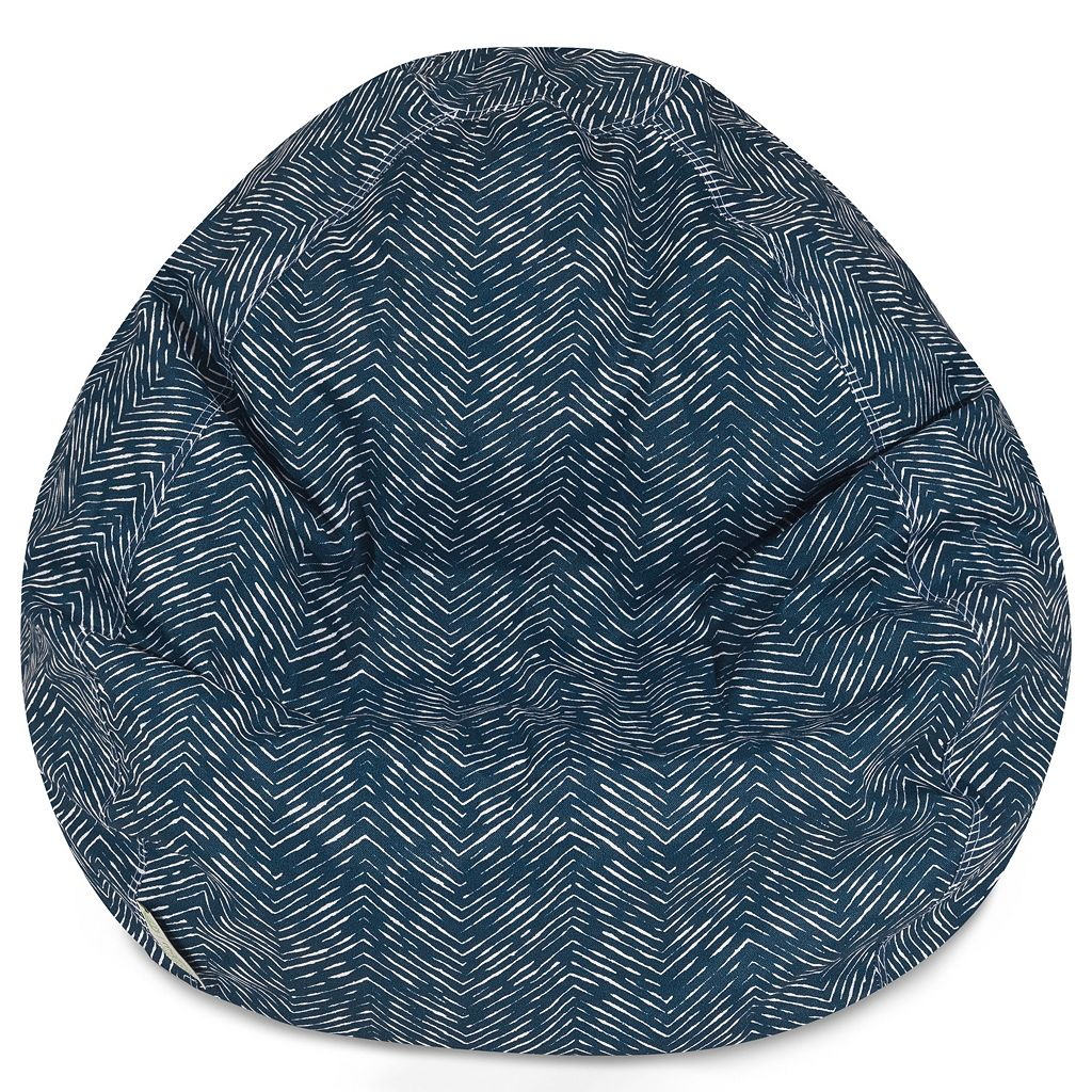 Majestic Home Goods Herringbone Small Beanbag Chair