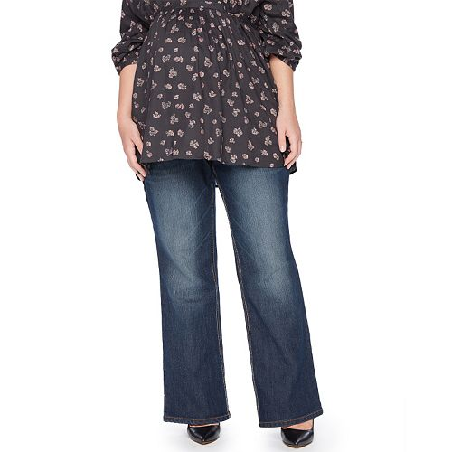 1f4ada38fc2 Plus Size Maternity Oh Baby by Motherhood™ Secret Fit Belly™ Bootcut Jeans