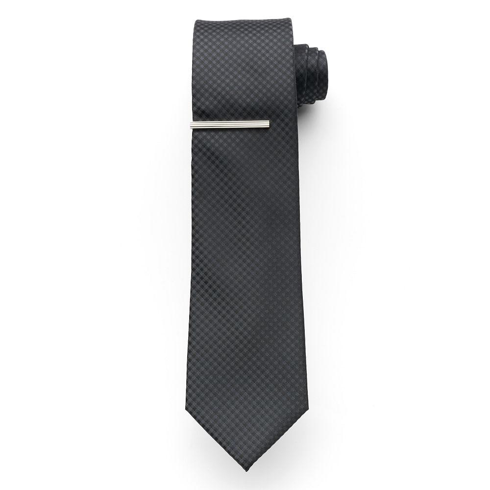Men's Apt. 9® McVinney Check Tie With Tie Bar