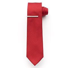 Men's Apt. 9 McVinney Check Tie With Tie Bar