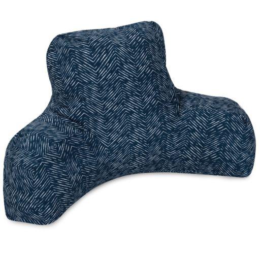 Majestic Home Goods Herringbone Indoor Outdoor Backrest Pillow