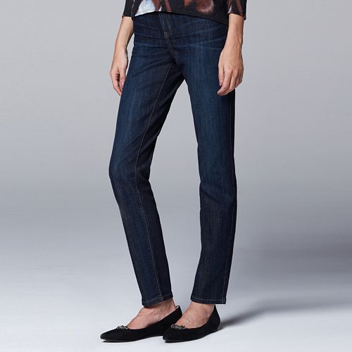 Petite Simply Vera Vera Wang Slimming Skinny Jeans
