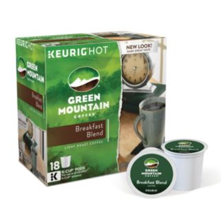 Keurig K-Cup Pod Green Mountain Coffee Breakfast Blend Coffee - 108-pk.