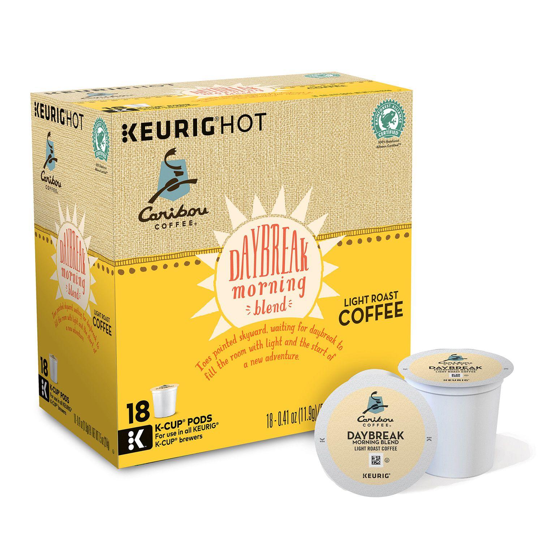keurig kcup pod caribou coffee daybreak morning blend light roast coffee 108pk - Keurig K Cup