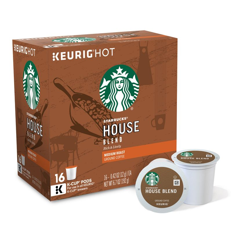 Starbucks Coffee & Espresso House Blend Medium (96 K-Cups per Case) 9516-096