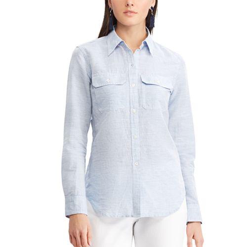 Women's Chaps Plaid Twill Button-Down Shirt