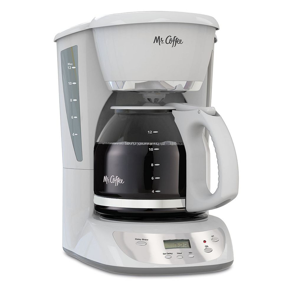 Mr Coffee White 12 Cup Programmable Coffee Maker