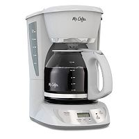 Mr. Coffee White 12 cupProgrammable Coffee Maker