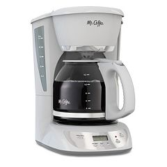 Mr. Coffee White 12-Cup Programmable Coffee Maker