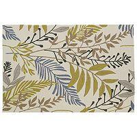 Kaleen Home & Porch Jungle Leaf Indoor Outdoor Rug
