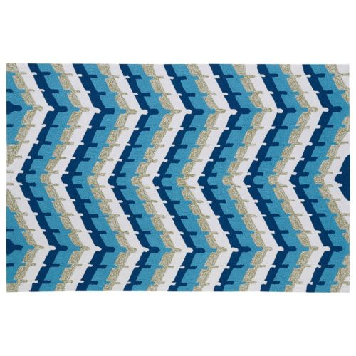 Kaleen Home and Porch Chevron Indoor Outdoor Rug