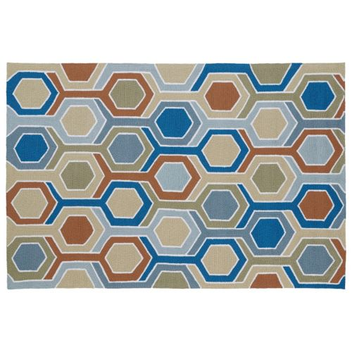 Kaleen Home and Porch Honeycomb Indoor Outdoor Rug