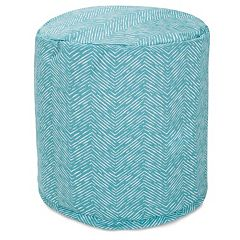 Majestic Home Goods Herringbone Indoor Outdoor Small Pouf Ottoman
