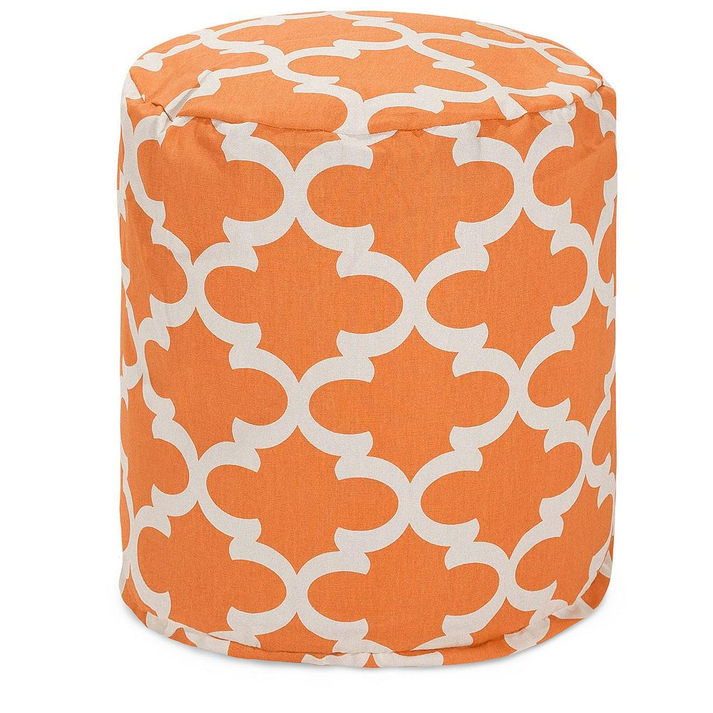 Majestic Home Goods Trellis Indoor Outdoor Small Pouf Ottoman