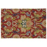 Kaleen Home & Porch Flower Indoor Outdoor Rug