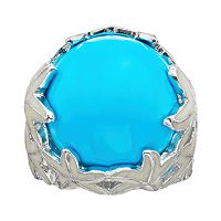 Sophie Miller Simulated Turquoise Sterling Silver Starfish Cabochon Ring