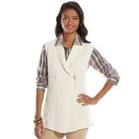 Women's Chaps Textured Sweater Vest