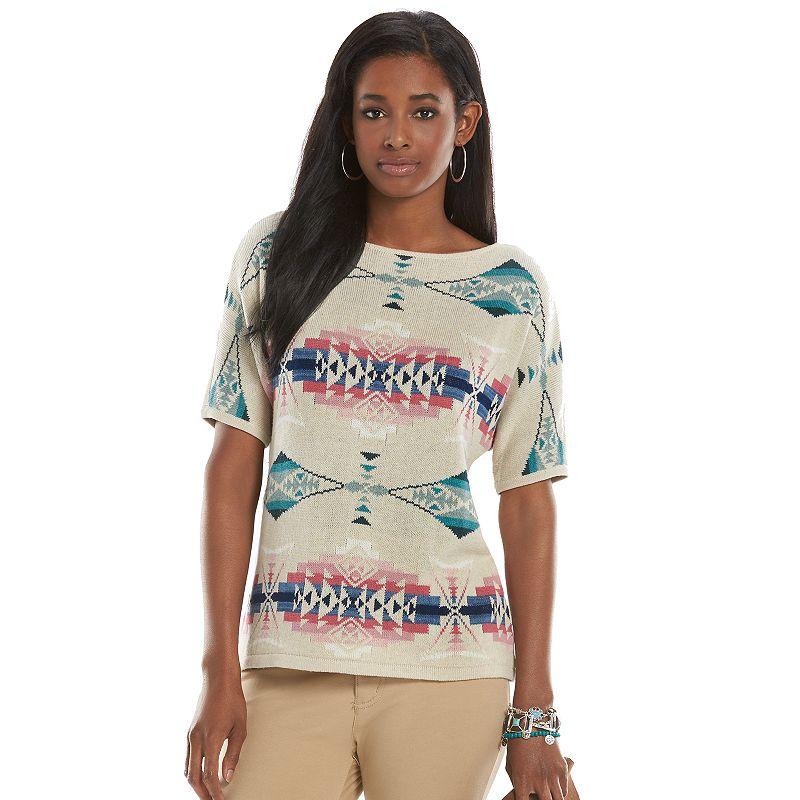 Women's Chaps Tribal Dolman Sweater
