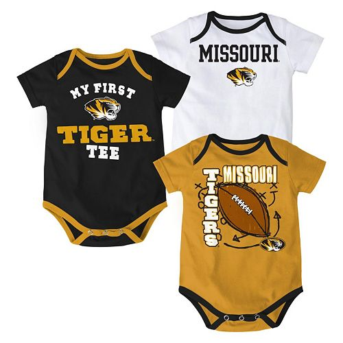 Baby Missouri Tigers 3-Pack Bodysuit Set