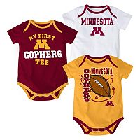 Baby Minnesota Golden Gophers 3-Pack Bodysuit Set