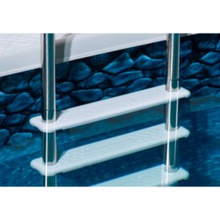 Blue Wave Premium Stainless Steel Reverse-Bend In-Pool Ladder for Above-Ground Pools