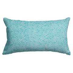 Majestic Home Goods Herringbone Indoor Outdoor Small Throw Pillow