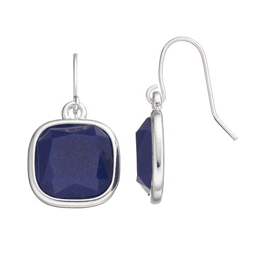 Chaps Square Drop Earrings
