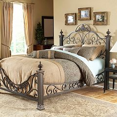 Fashion Bed Group Baroque Gilded Slate Queen Bed