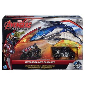 Marvel Avengers: Age of Ultron Cycle Blast Quinjet and Motorcycle by Hasbro