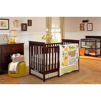 Nojo Zoobilee 4 Pc Zoo Animals Crib Bedding Set