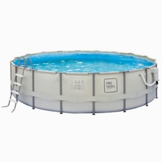 PRO Series 15-ft. Above Ground Round Metal Pool System