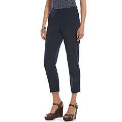 Chaps Bi-Stretch Straight-Leg Pants - Women's