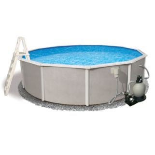 Blue Wave 27-ft. Above Ground Round Steel Pool System - 52-in. Depth